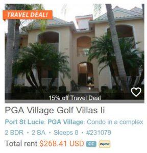 PGA Village Golf Villas Ii 2 Bedroom-2 Bath Sleeps 8 with hd Tv #231079