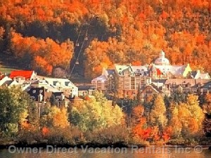 Fall foliage in Mont-Tremblant, Quebec