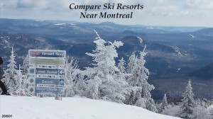 Compare ski resorts near Montreal