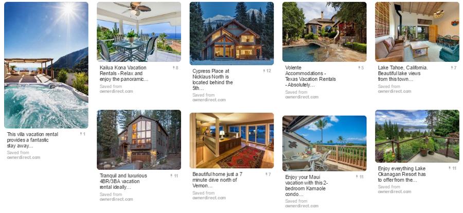 Luxury Vacation Rentals Pinterest Board