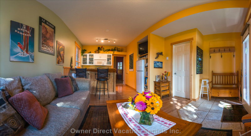 Beautiful & cozy one-bedroom suite with gorgeous views of the Monashee Mountains, ID#72070