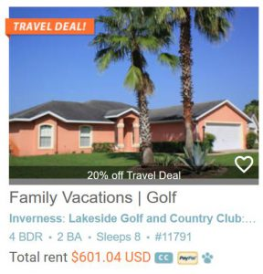 Family Vacations | Golf View Villa | Crystal River - Inverness Area #1791