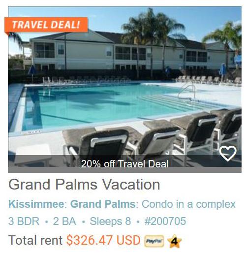 Grand Palms Vacation Resort - 3 Bedroom, 2 Bath Vacation Getaway!!! #200705