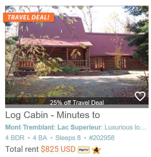 Log Cabin - Minutes to Mont Tremblant Resort #202958