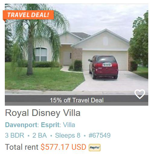 Royal Disney Villa #67549