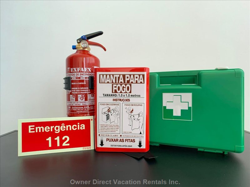 First aid kit available at this modern apartment rental #250635